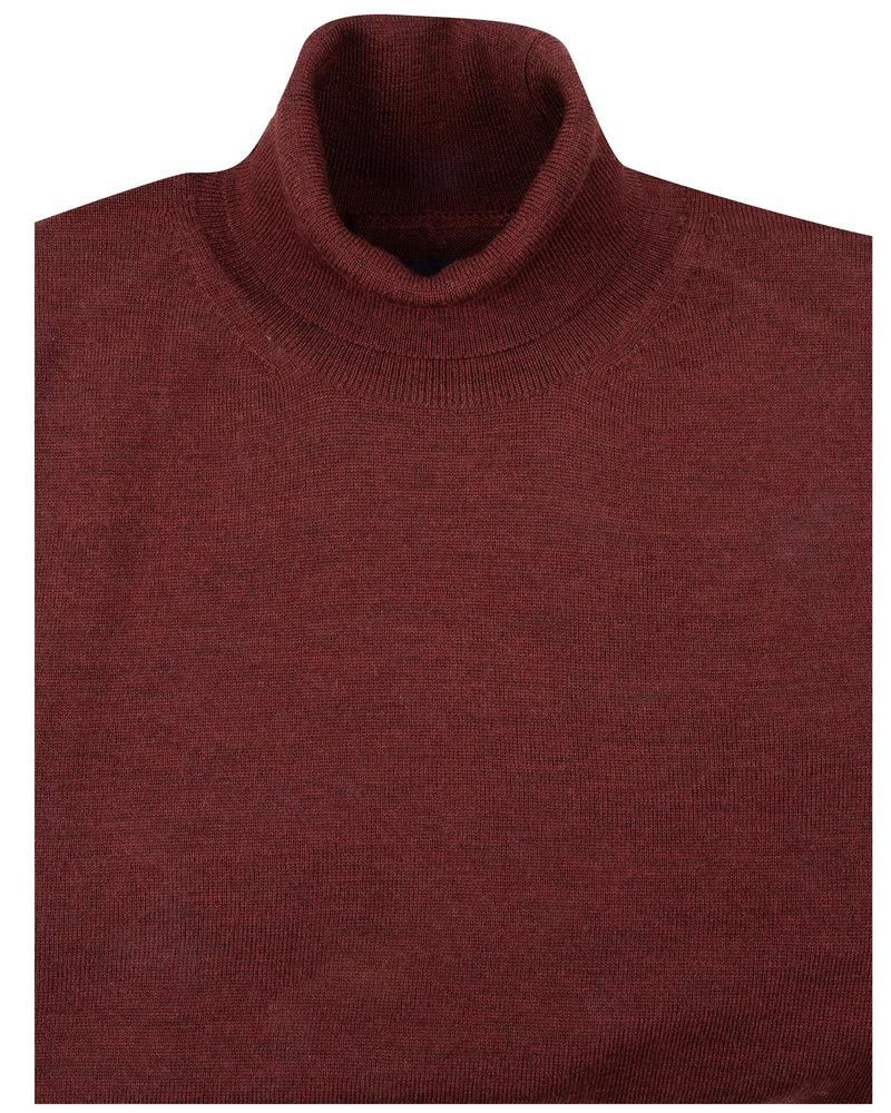 CAVALLARO Merino roll neck 118205002 Dark red 499000