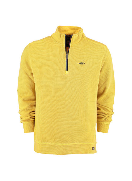 NZA NEW ZEALAND 20HN307 Mangawhai sweat half zip 666 Corn yellow