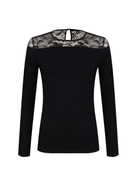 ESQUALO W20.30708 Top lace yoke black