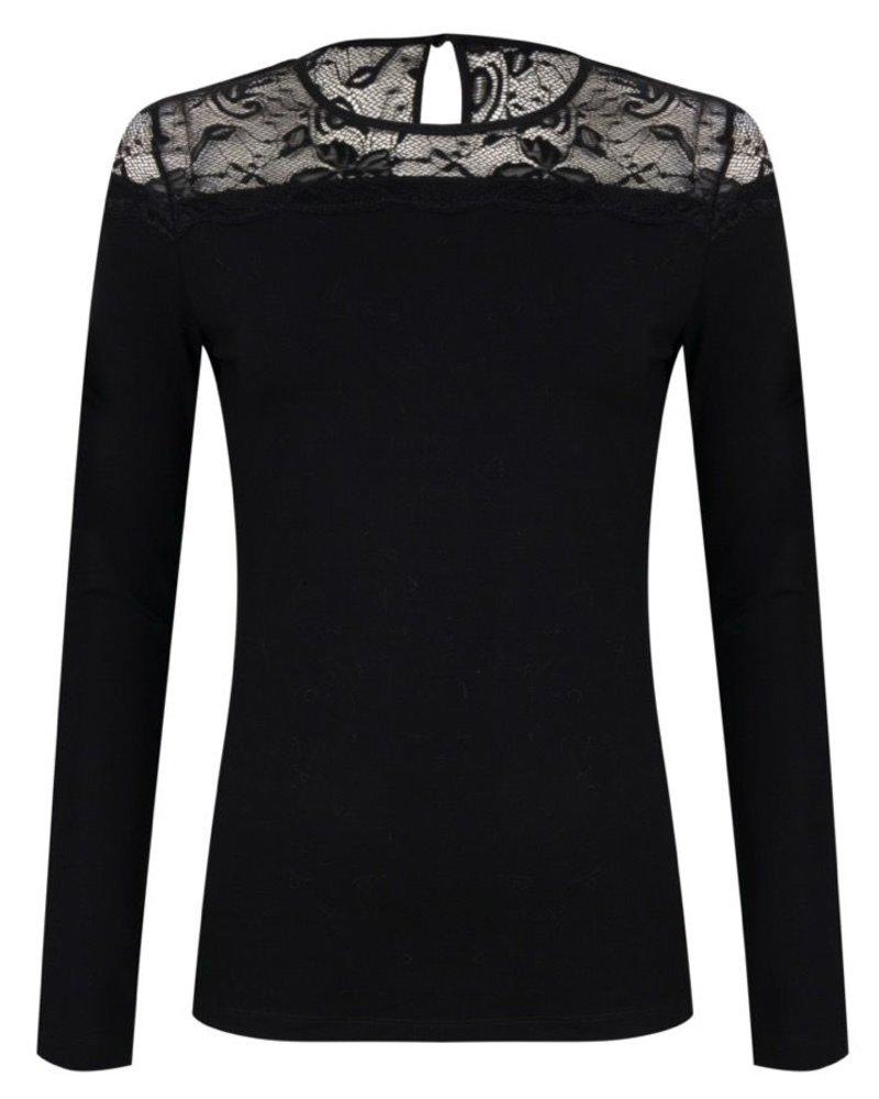 ESQUALO W20.30708 Top lace yoke black