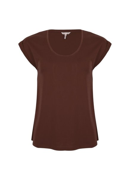 ESQUALO W20.30711 T-shirt modal turn up chocolate