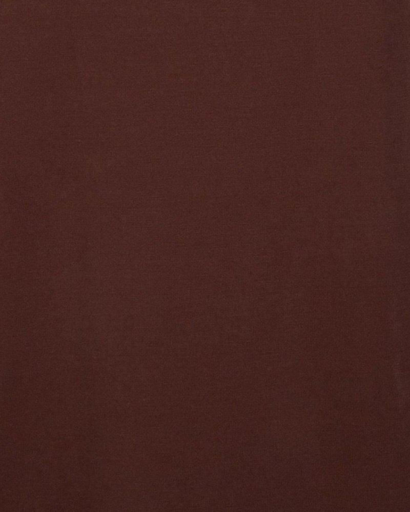ESQUALO W20.30711 T-shirt modal turn up chocolate