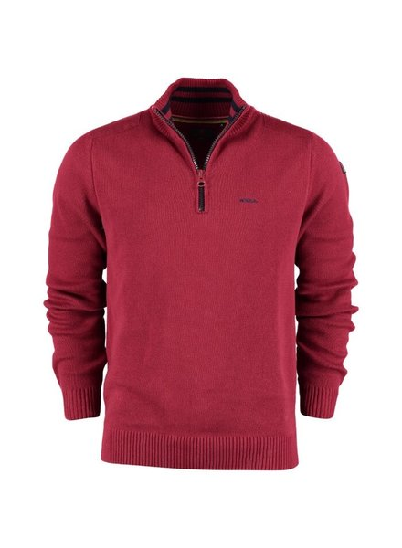 NZA NEW ZEALAND 20KN498 Waikuku beack pullover half zip 604 rusty red