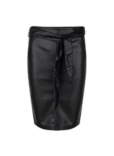 ESQUALO W20.04703 Skirt PU short belt black