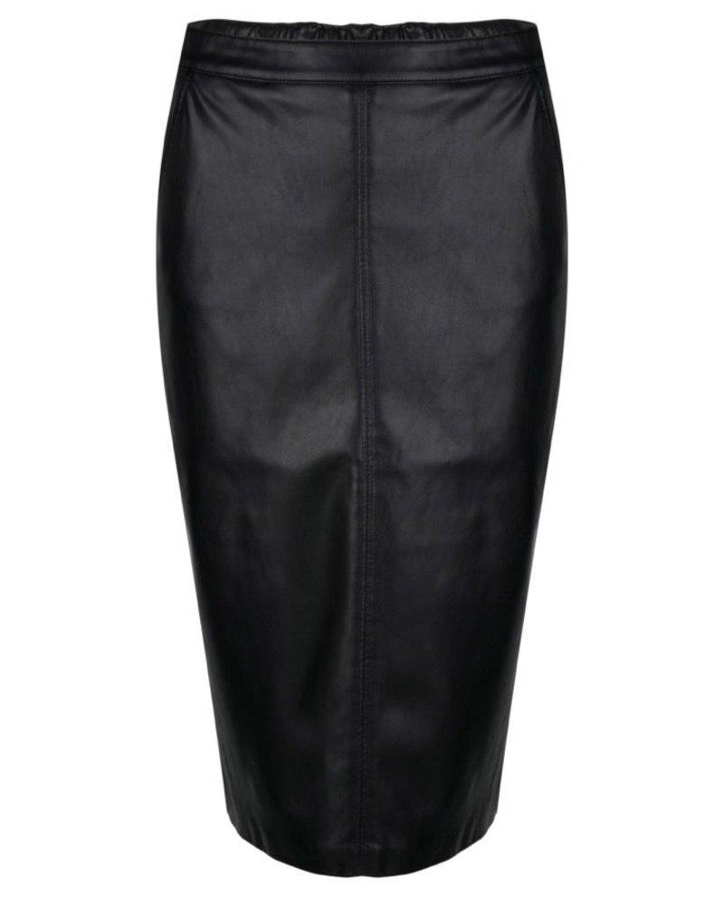 ESQUALO W20.04702 Skirt PU pencil black