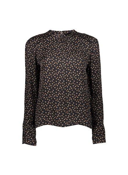 GEISHA 03653-20 Top dots l/s black/camel combi