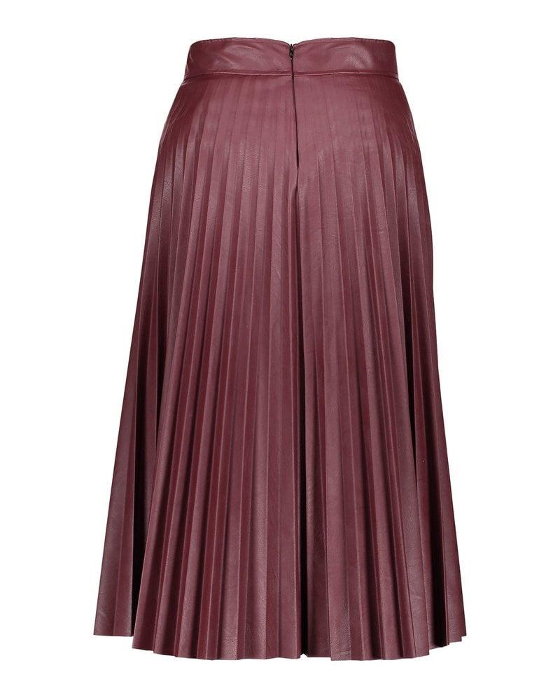 GEISHA 06586-60 Skirt pu plisee burgundy