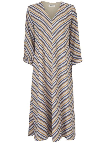 MODSTRÖM 55798 Clementine print ls dress, fashion dress faded dark stripe