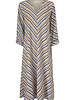 MODSTRÖM 55798 Clementine print ls dress, fashion dress faded dark stripe