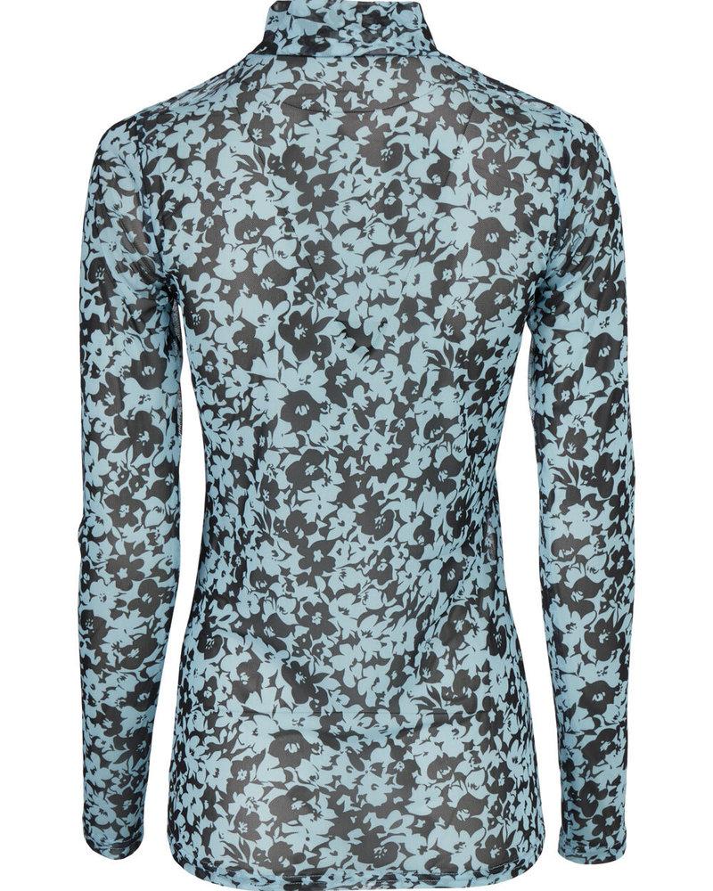 MODSTRÖM 55652 Hamish print top, top buttercup blue