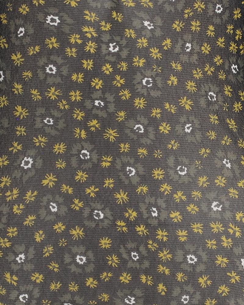 FREEBIRD Tari dark olive long sleeve FLOWER-VI-01