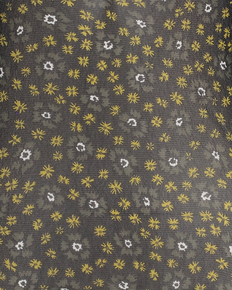 FREEBIRD Finne dark olive midi skirt FLOWER-VI-01