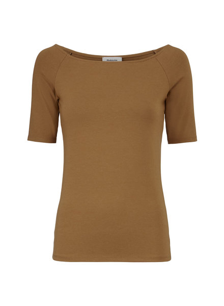 MODSTRÖM 51774 Tansy top, basic shortsleeve t-shirt brown oak