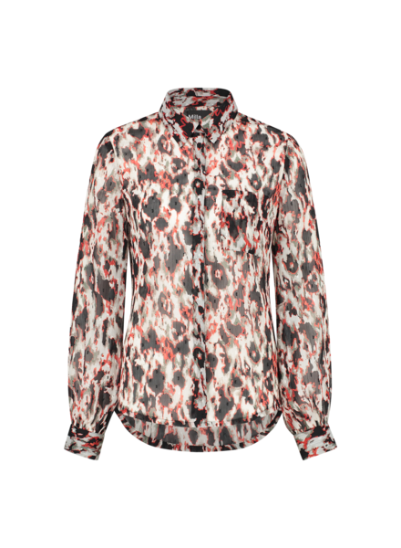 MILLA AMSTERDAM MSS210023.77 Becca blouse animal print
