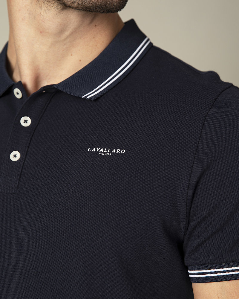 CAVALLARO Garmino polo 116211000 dark blue