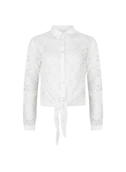 ESQUALO SP21.30013 Blouse lace knot off white