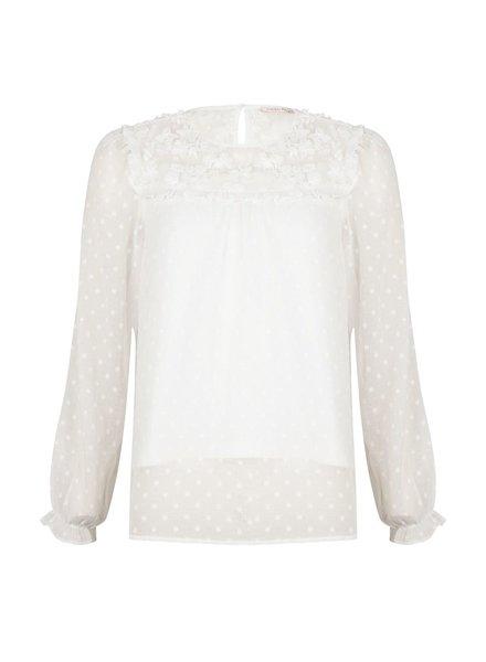 ESQUALO SP21.06030 Blouse plumetis off white