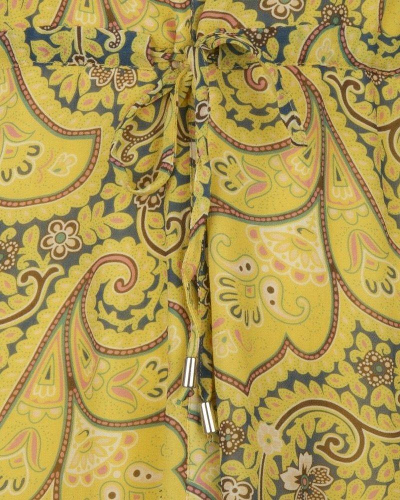 ESQUALO SP21.14012 Dress long puff sleeve paisley print