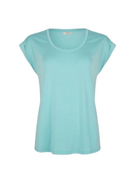 ESQUALO SP21.30008 T-shirt turn up sleeve lagoon
