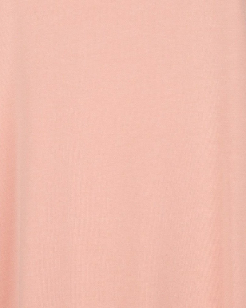ESQUALO SP21.30008 T-shirt turn up sleeve coral