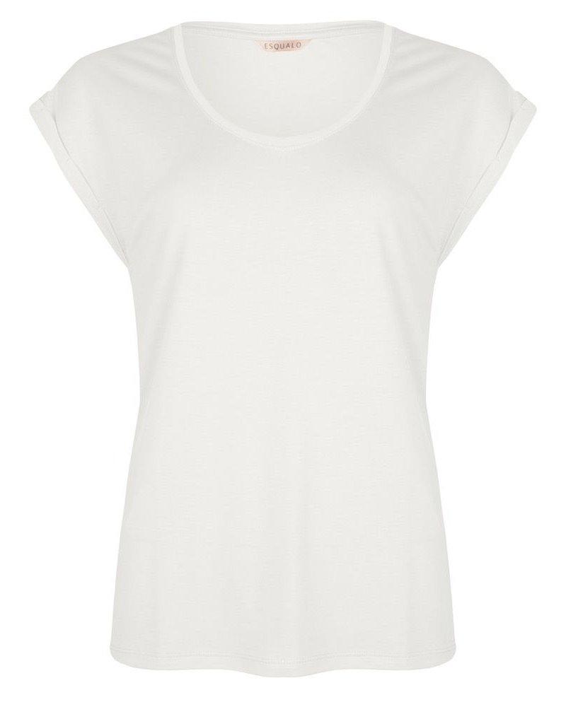 ESQUALO SP21.30008 T-shirt turn up sleeve off white