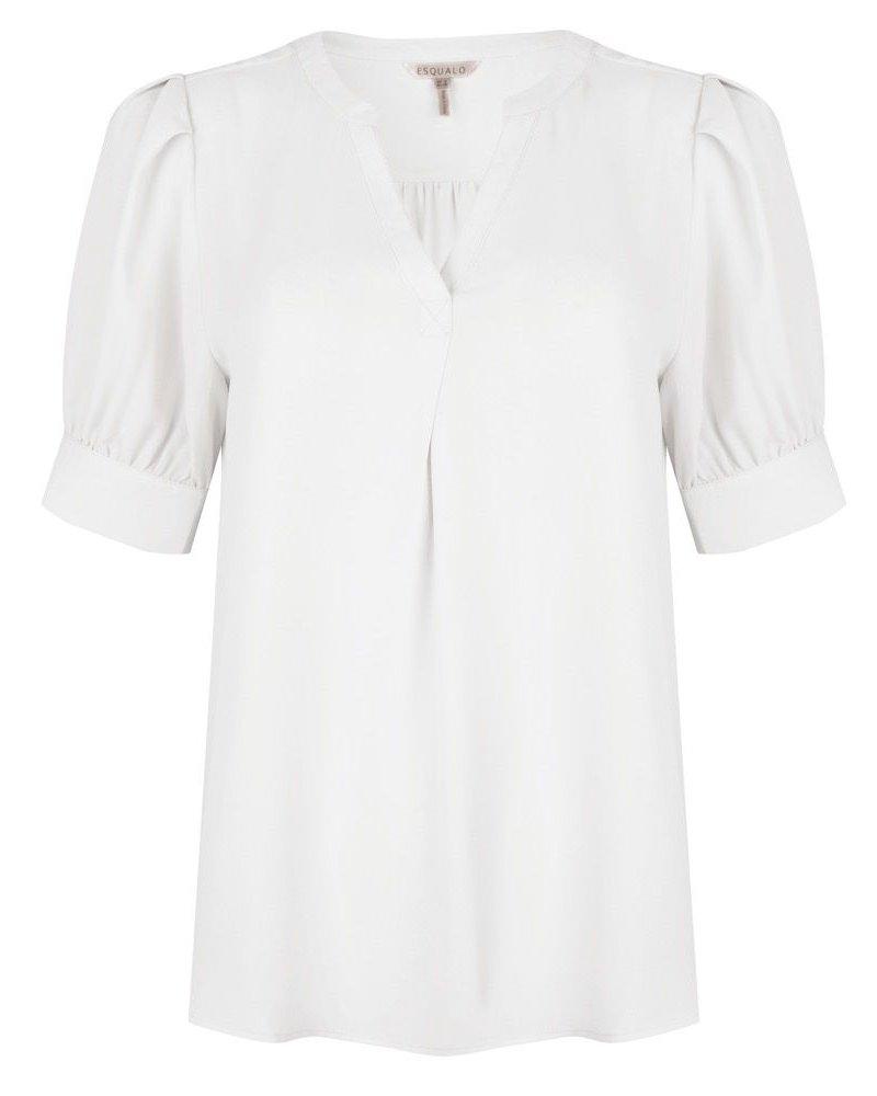 ESQUALO SP21.08011 Blouse short puff sleeve off white