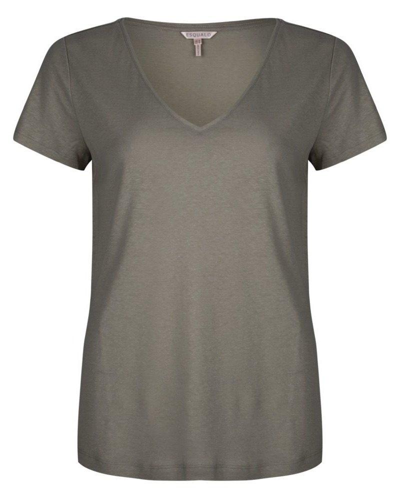 ESQUALO SP21.30001 T-shirt foil coating light green