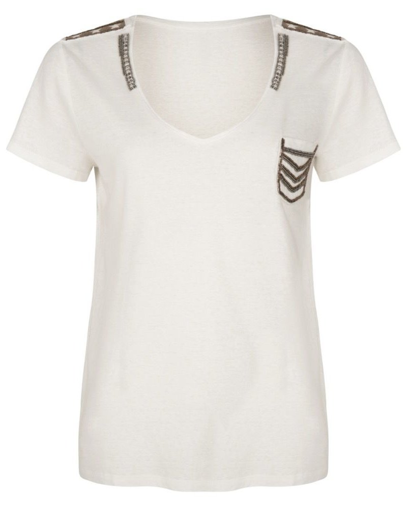 ESQUALO SP21.30000 T-shirt military patches off white