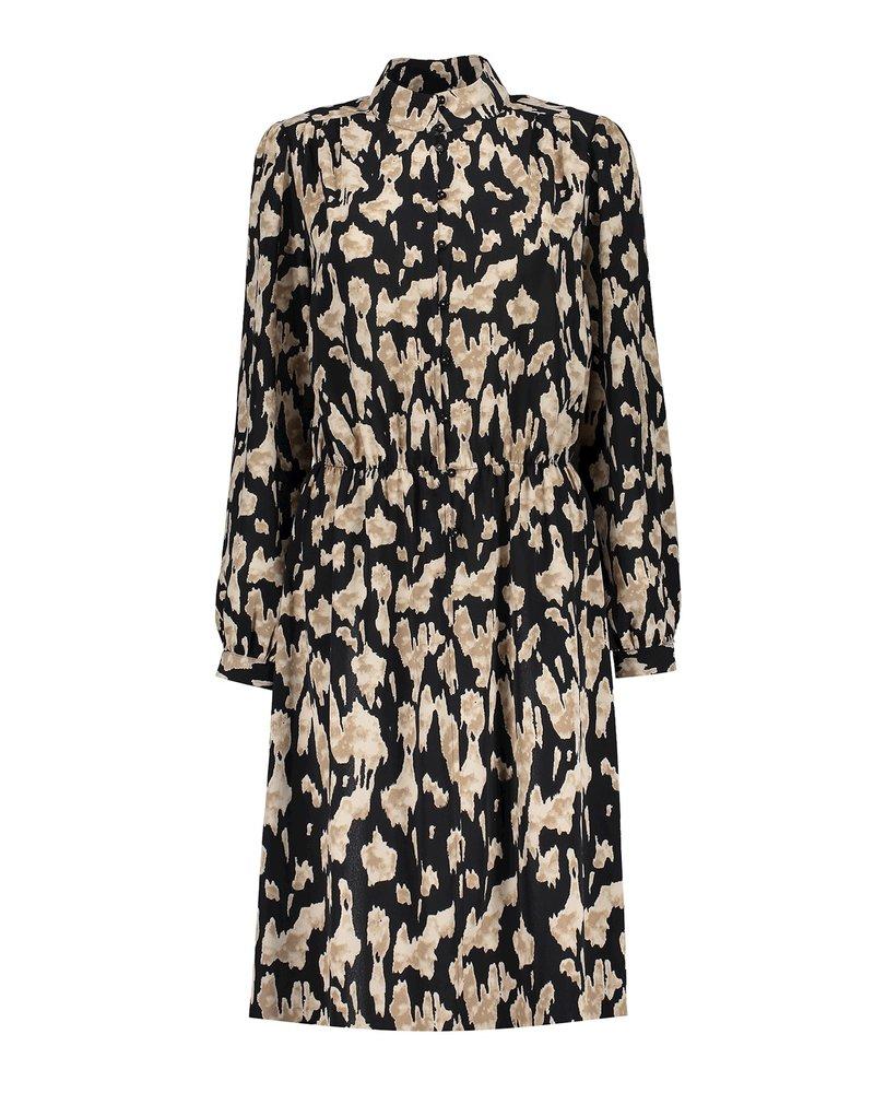 GEISHA 07839-99 Dress aop black/sand