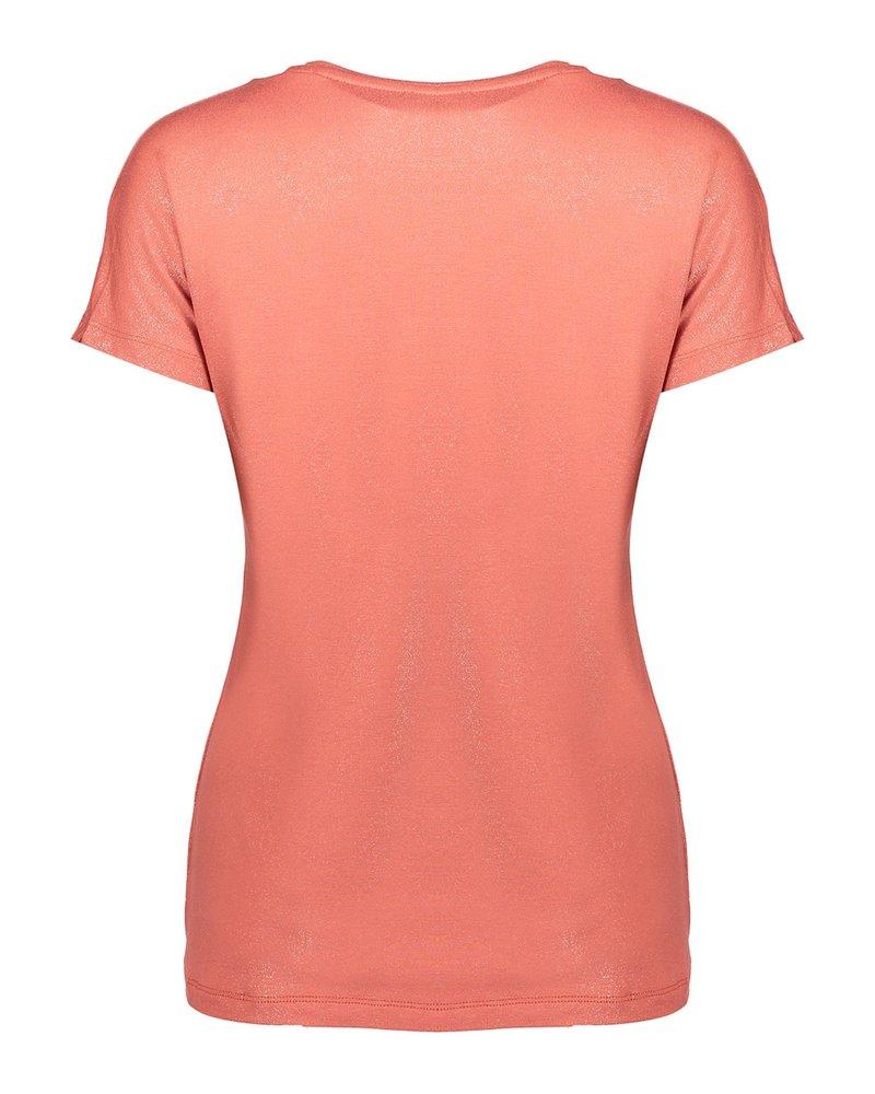 GEISHA 02822-40 T-shirt v-neck aofoil s/s rhubarb