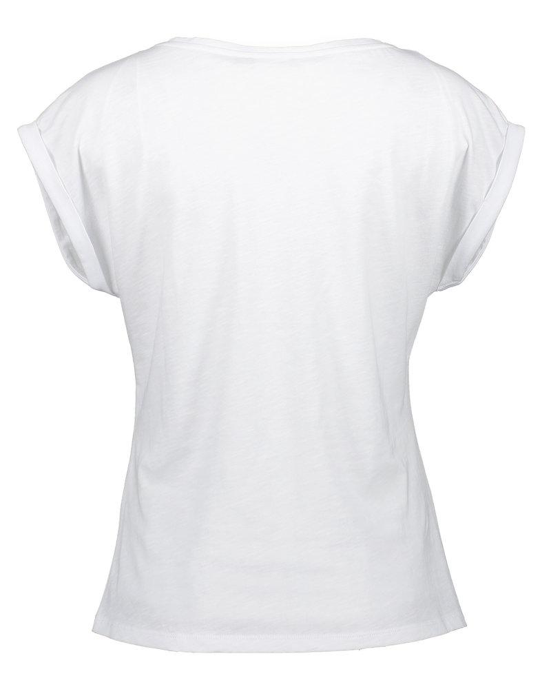 GEISHA 12031-46 T-shirt tekst white/dark navy