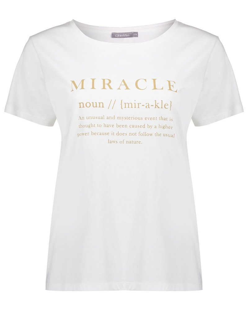 GEISHA 12090-25 T-shirt miracle s/s off-white