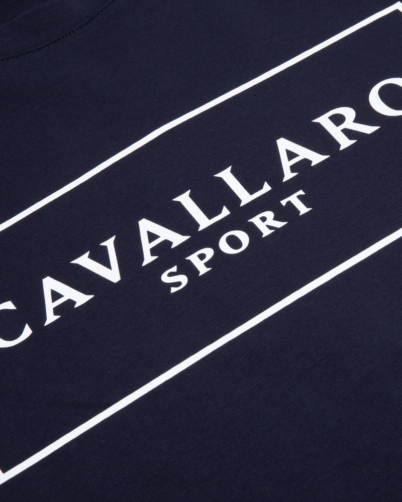 CAVALLARO Cavallaro sport r-neck tee 117211007 dark blue