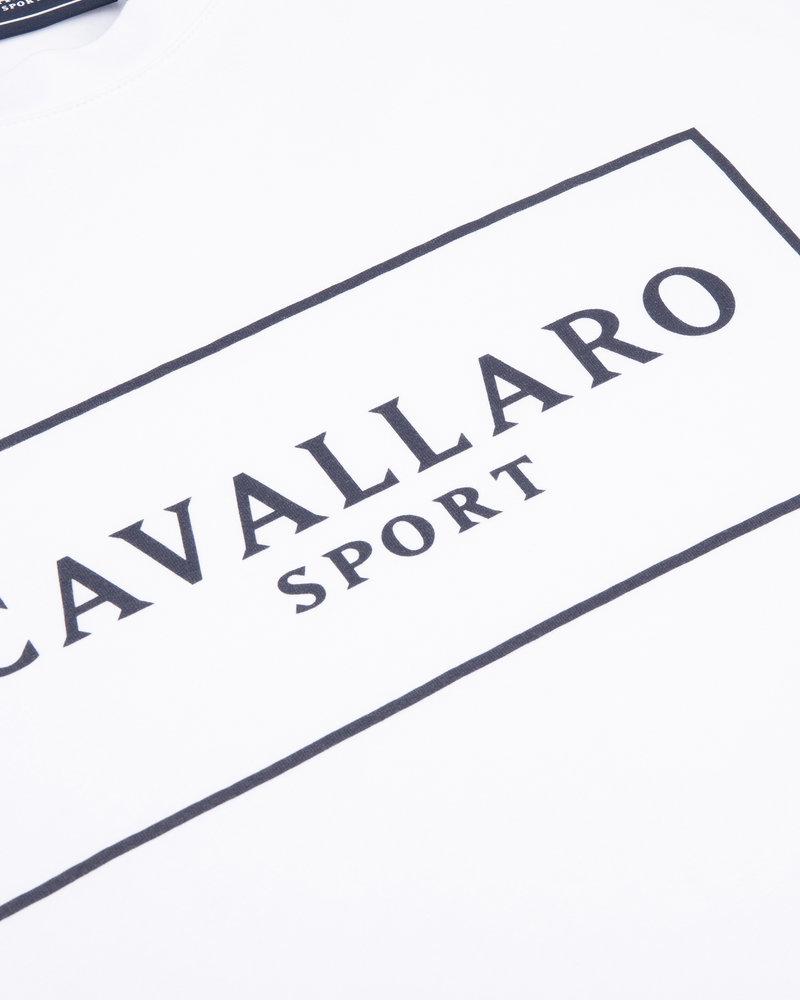 CAVALLARO Cavallaro sport r-neck tee 117211007 white