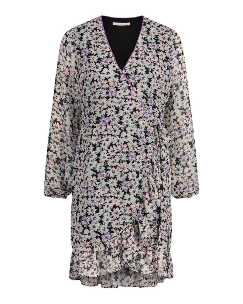 FREEBIRD Rosy ls lilac mini dress long sleeve FLOWER-PES-01