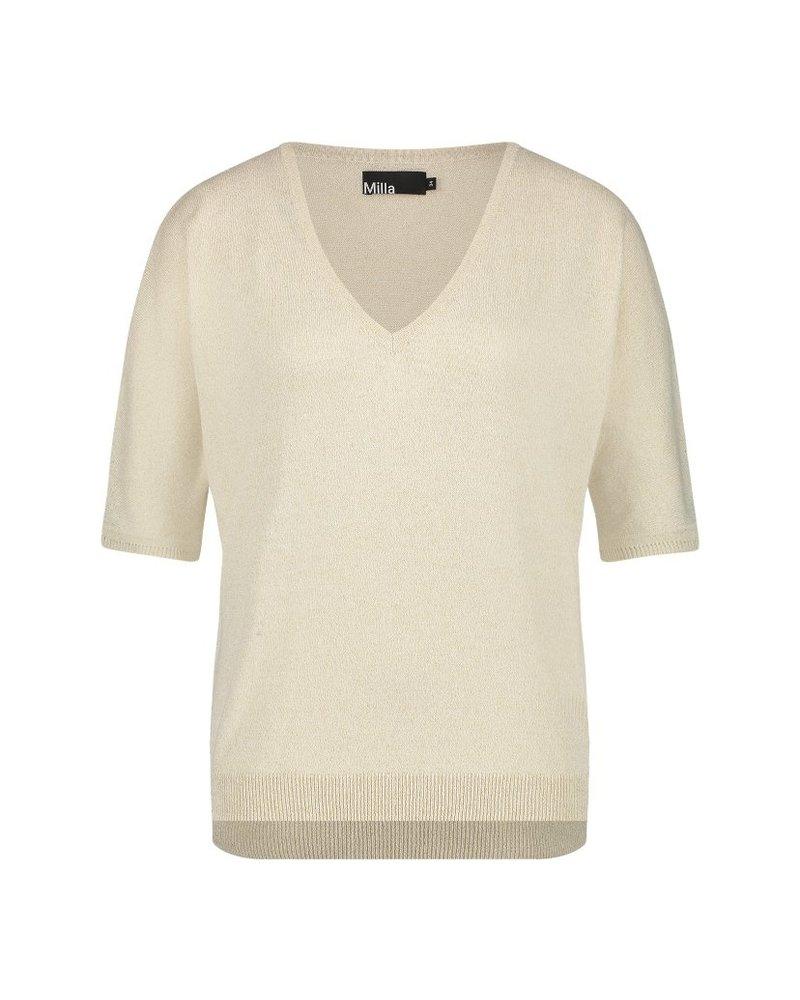 MILLA AMSTERDAM MSS210013.7 Tilly t-shirt cream