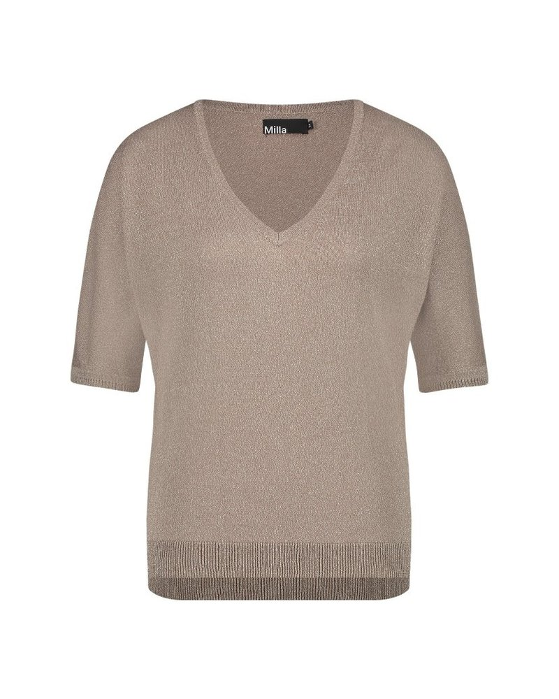 MILLA AMSTERDAM MSS210012.82 Tilly t-shirt oyster