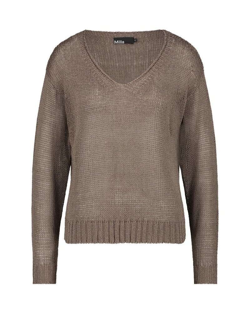 MILLA AMSTERDAM MSS210008.82 Scarlet sweater oyster