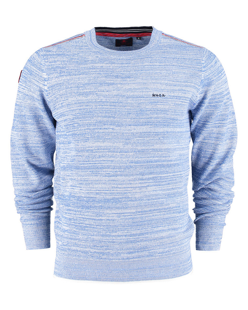NZA NEW ZEALAND Pullover round neck sealy 21AN405 cosmic blue