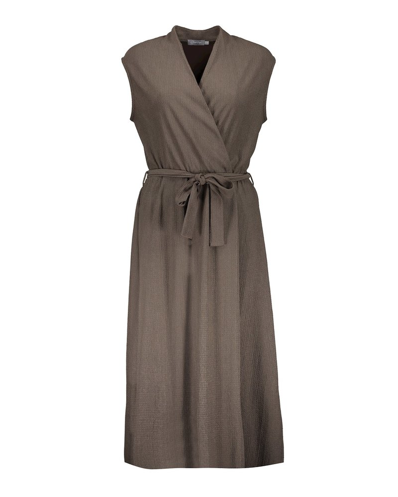 GEISHA 17060-25 Dress solid with strap army