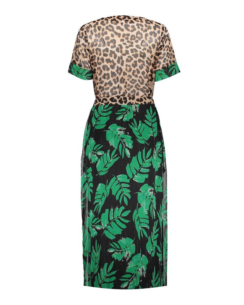 GEISHA 17109-20 Dress sand/green combi