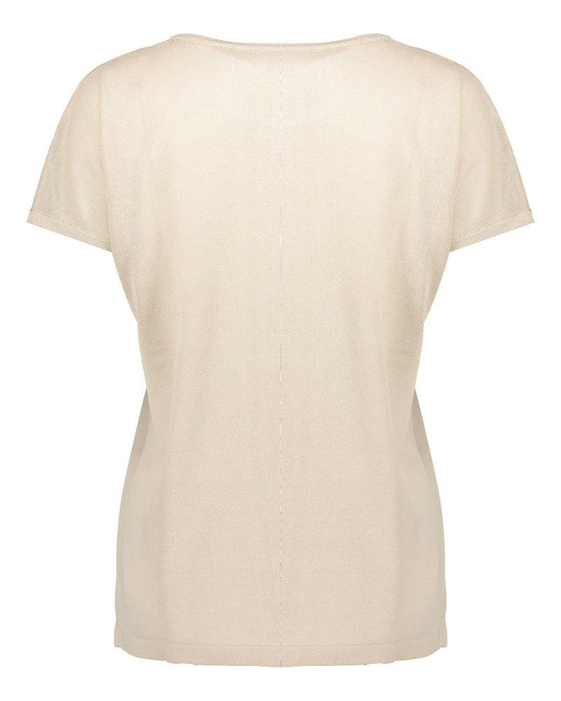 GEISHA 14001-10 Pull sleevesless turn up sand