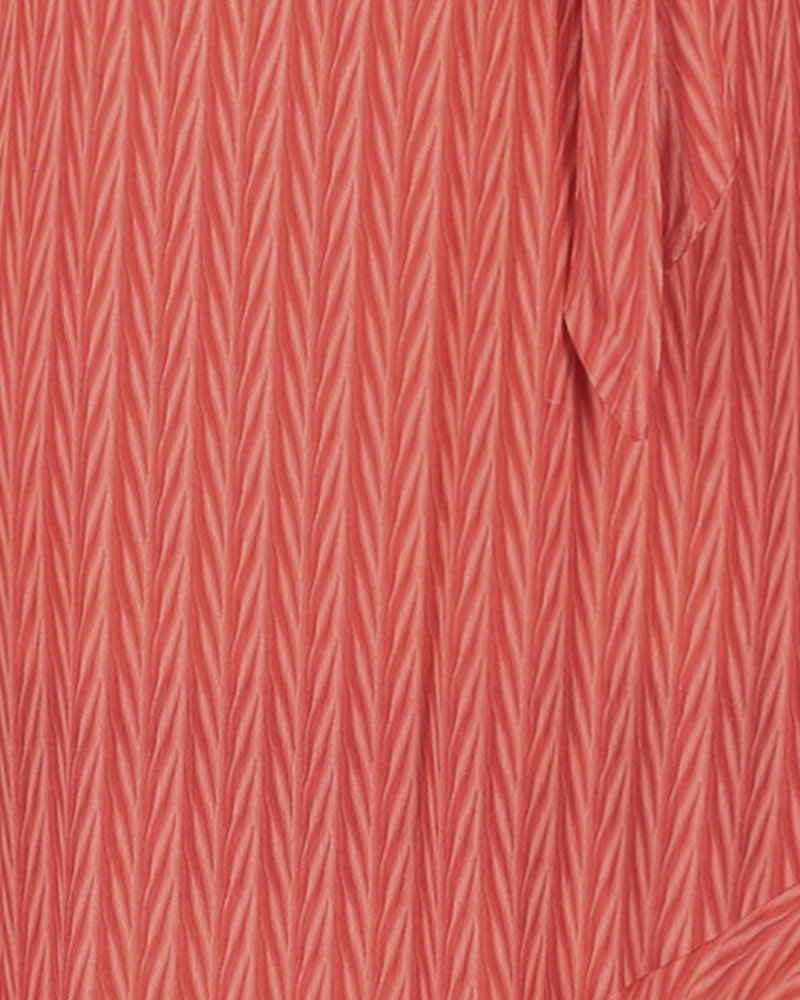 FREEBIRD Tanika coral midi dress long sleeve VIS-01