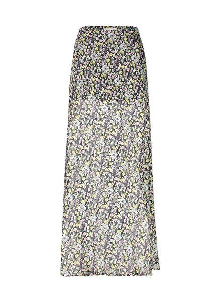 FREEBIRD Roos mini turquoise mini skirt MINI-FLOWER-PES-02