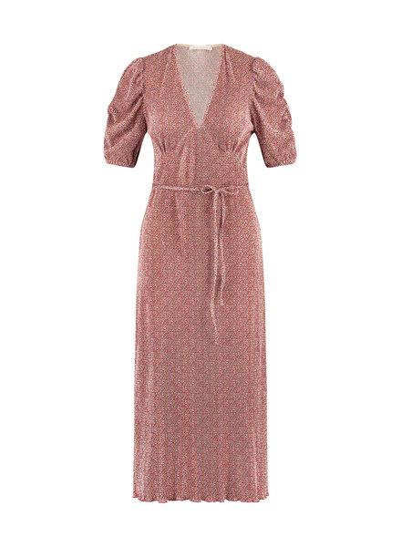 FREEBIRD Gayla red midi dress short sleeve SPOT-PES-03