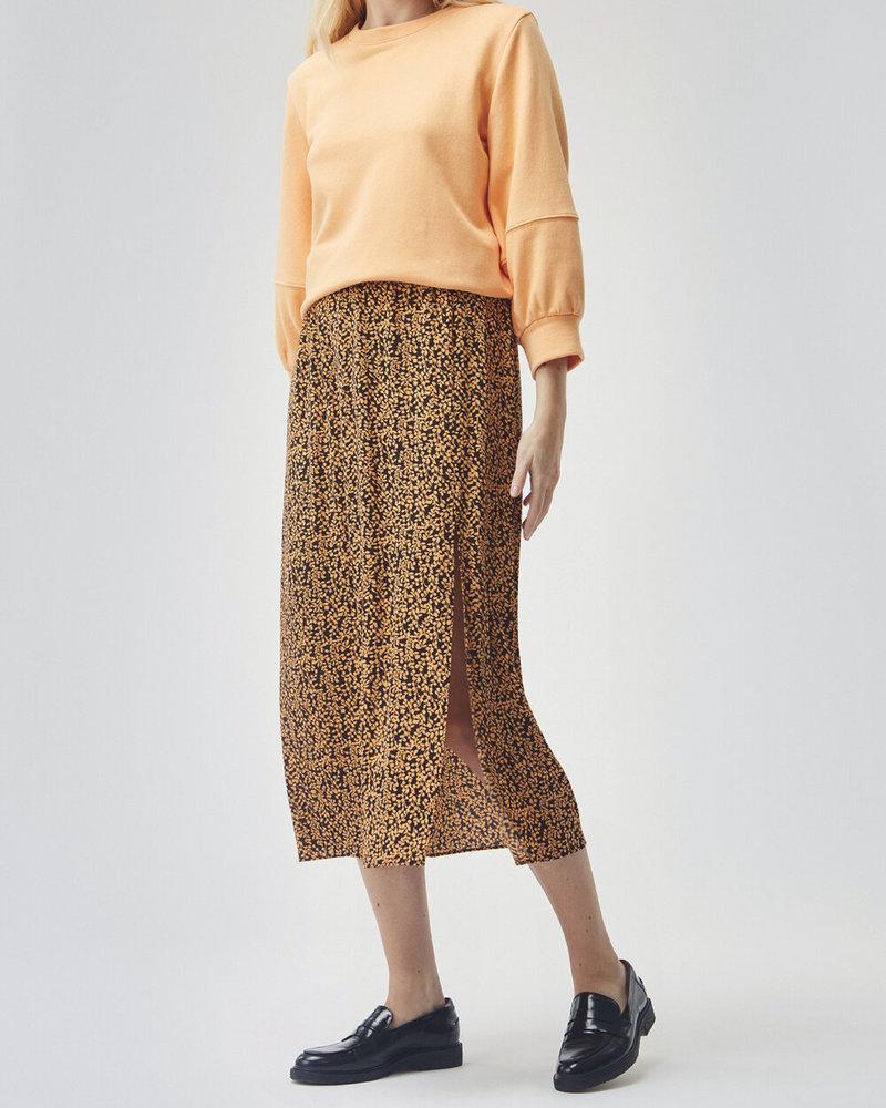 MODSTRÖM 55638 Isabella print skirt, fashion skirt apricot leaf