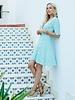 ESQUALO HS21.30243 Dress short ruffle minimal print soft green