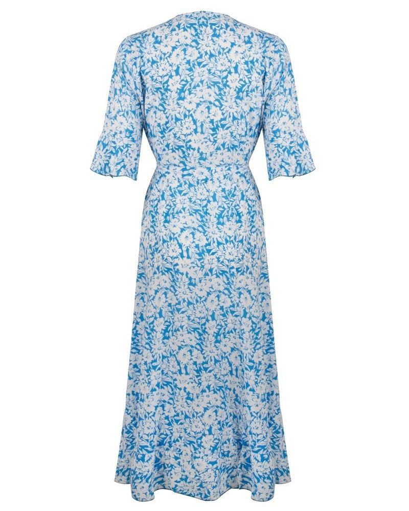 ESQUALO HS21.16218 Dress wrap summer shadow print