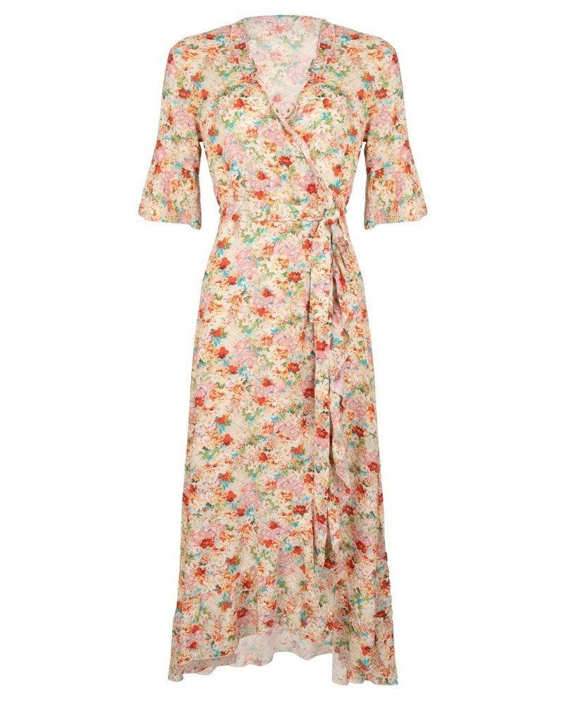 ESQUALO HS21.16207 Dress wrap garden flower print