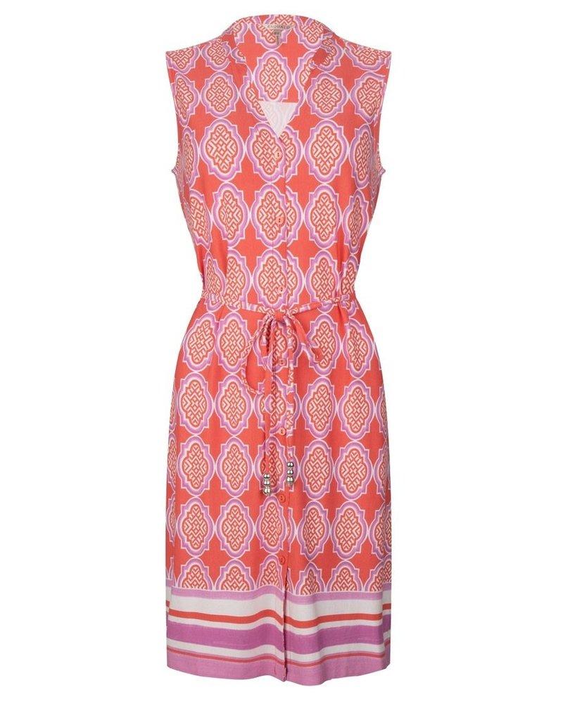 ESQUALO HS21.30201 Dress cabana slv/lss print